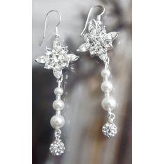 Ohrschmuck zur Hochzeit Perlen und Kristalle 925