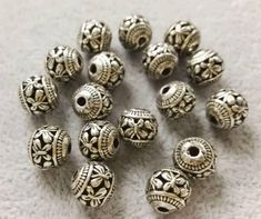Description : Tibetan Beads / 10 mm Size / 10 x 10 mm Quantity: Plating : Antique Silver ★select size from drop down menu to the right Material: Zinc Metal Alloy, Lead and Nickel Safe, Cadmium Safe ★ More beads : Elephant Line Drawing, Silver Jewellery, Jewelry Making Supplies, Silver Beads, Gemstone Beads, Antique Silver, Effort, Menu, Drop