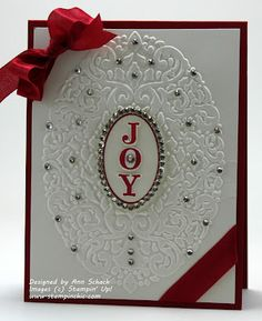 Sunday, September 2012 The Stampin' Schach: Easy Joyous Celebrations for The Paper Players Joyous Celebrations, Holiday Frame TIEF Christmas Card Crafts, Christmas Cards To Make, Xmas Cards, Handmade Christmas, Holiday Cards, Greeting Cards, Christmas Paper, Christmas 2014, Christmas Angels