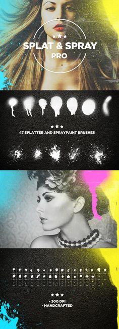 Splat & Spray Pro Brushes Photoshop #ps Download: http://graphicriver.net/item/splat-spray-pro-brushes/7776609?ref=ksioks