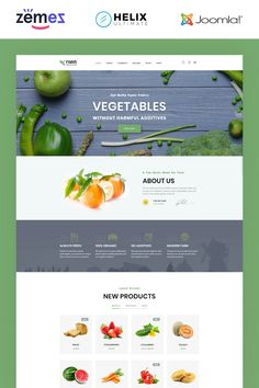 Nowadays people more and more care about their health. They think more about a healthy way of life. Healthy organic food is a part of a healthy way of life. Joomla Themes, Joomla Templates, How To Attract Customers, Create Website, Organic Recipes, Advertising Layout, Cleaning, Fresh, Vegetables