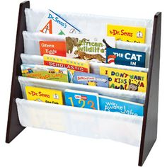 Tot Tutors - Book Rack Espresso - 76723 - Home Depot Canada Book Organization, Book Storage, Organizing, Kids Storage, Fabric Storage, Storage Rack, Classroom Organization, Kid Friendly Bookshelves, Home Depot