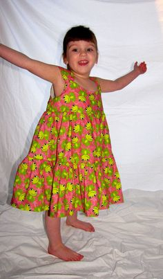 Friendly Frogs Sun Dress by myfunclothes on Etsy, $25.00