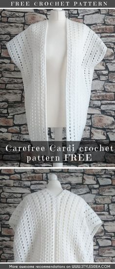 #crochetcardi #crochetfreepattern #crochetshawl