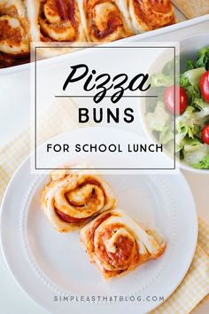 Easy to make, these simple homemade pizza buns make a perfect addition to your child's school lunch. This simple pizza buns recipe is a must try family favorite!