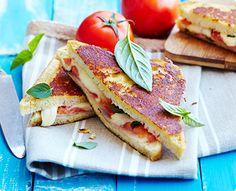 Rezept: Knusprige Tomaten-Sandwiches aus der Pfanne