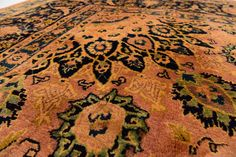 Peach 9' 10 x 12' 10 Kashmar Persian Rug   Persian Rugs   iRugs UK