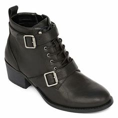 Unisa® Oakey Lace-Up Buckle-Strap Booties - jcpenney Fall Trends, Zombie 037929a639