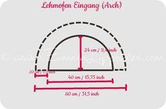Lehmofenbau Planung Lehmofen-Eingang Line Chart, Exterior, India, Entrance, Oven, Outdoor Rooms
