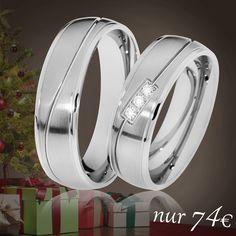 💖 Partnerringe unter dem Weihnachtsbaum 💖 🔸 Überraschen Sie Ihre/n Liebste/n zu Heiligabend 🔸 Nur noch 74€ / Paar 🔸 inkl. Versand 🔸 inkl. Gravur 🔸 inkl. Ring-Etui
