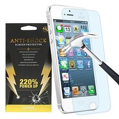 220% Power Up Anti-shock Screen Protection for iPhone 5/5C/5S – GBP £ 2.18
