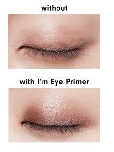 Use eye primer before applying eyeliner and eyeshadow to prevent them from fading or smudging.