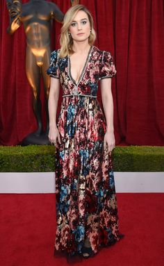 SAG Awards 2018 Red Carpet: Best Dressed and Fashion Highlights - Brie Larson in Gucci