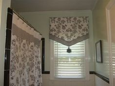 how to sew bathroom window curtains