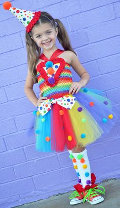 Girls Circus Carnival Clown Tutu by HaydiePotateeBoutq on Etsy