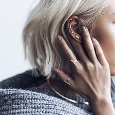Ear candy via @thpshop.co ft new 'Strip' bar earring #details #THPminimaliste