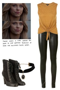 Freya Mikaelson - The Originals by shadyannon on Polyvore featuring polyvore fashion style Yves Saint Laurent rag & bone clothing