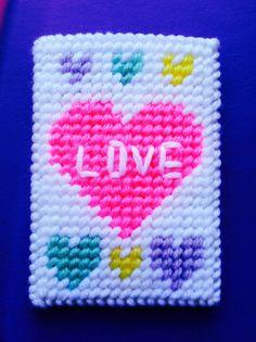 Conversation Hearts Gift Card Holder,Valentine Day Gifts,Gifts for Her,Gifts for Him,Gift Card Holder,Plastic Canvas,Hearts,Money Holder