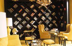 Diagonal bookcases
