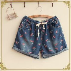 Buy 'Fairyland – Cherry Print Denim Shorts' with Free International Shipping at YesStyle.com. Browse and shop for thousands of Asian fashion items from China and more!