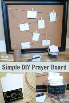 This beautiful DIY Prayer Board is a perfect way to keep prayer requests at the forefront of your mind.