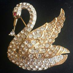 Selling this 'Attwood Sawyer' Swan Brooch in my Poshmark closet! My username is: earth_2_glamor. #shopmycloset #poshmark #fashion #shopping #style #forsale #Attwood & Sawyer  #Jewelry