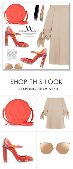 """""""Natural Woman"""" by christinacastro830 ❤ liked on Polyvore featuring Furla, TIBI, Dolce&Gabbana, Linda Farrow and Chanel"""