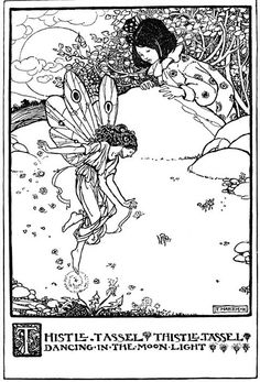 Thistle-Tassel - Elfin Song, a Book of Verse and Pictures by Florence Harrison, 1912