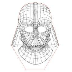 Darth Vader set 3d illusion lamp plan vector file for CNC - 3bee-studio