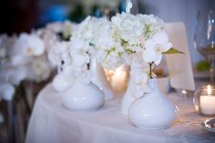 Copper Creek wedding reception pretty white vases and flowers Colors And Emotions, White Vases, Persian, Wedding Reception, Boston, Copper, Colours, Traditional, Table Decorations