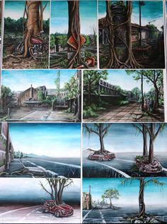 Top Art Exhibition - Painting » NZQA White Pen, Coloured Pencils, Level 3, Art Boards, Art Photography, To Go, Student Work, Artist, Nature