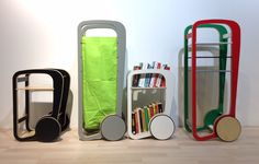 Fleimio Trolley Limited Edition models now for sale. Fleimio Trolley is a furniture with wheels for storing firewood, magazines and books. Wheels make the Fleimio Trolley easy to relocate in interior design.