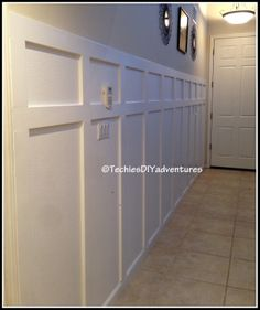Techie's DIY adventures: Board and Batten treatment for entryway wall