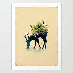 Watering (A Life Into Itself) Art Print by Budi Satria Kwan - $19.97