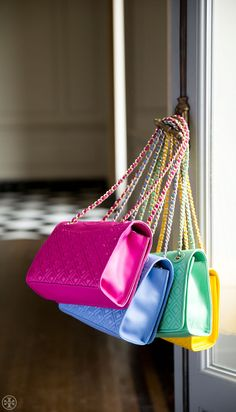 The Fleming Bag Meet the new Fleming, updated in a vivid rainbow of colors.