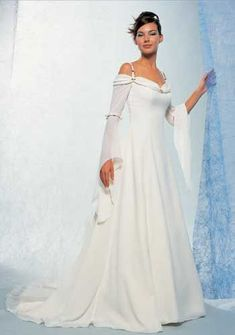 It is Tidebuy that attracts lots and great deals of brides-to-be to purchase large size middle ages wedding gowns. Here no matter which type of weddin. Pagan Wedding, Renaissance Wedding, Celtic Wedding, Viking Wedding Dress, Gothic Wedding, Medieval Fashion, Medieval Dress, Bridal Dresses, Wedding Gowns