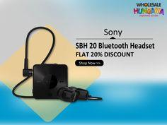 Sony SBH 20 In-the-ear Bluetooth Headset (Black)