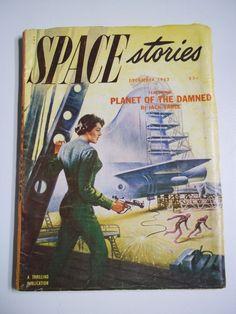 Space Stories Vol. 1 No. 2 December 1952 Science Fiction Pulp Magazine..