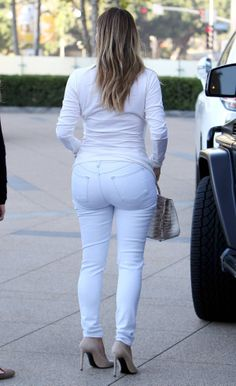 kim kardashian, I'd say that's a really bad choice of jeans! Pockets can't help even here!  Mirror Kim, mirror!