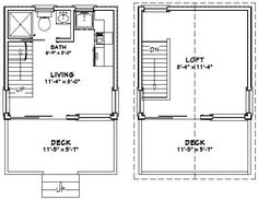 12x12 House w/ Loft -- #12X12H1 -- 268 sq ft - Excellent Floor Plans