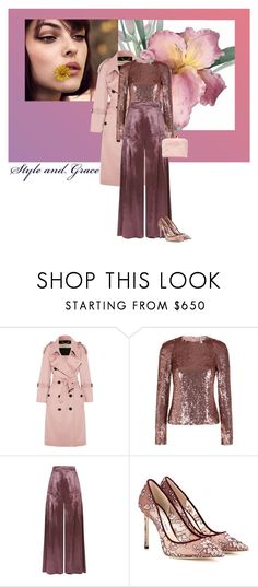 """Lavendar Velvet Breeze"" by seafreak83 on Polyvore featuring Burberry, Temperley London, Jimmy Choo and Sophia Webster"