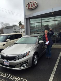 Look what we have here! Another satisfied Gary Rome Kia customer! Here we have Angeline Latche who just picked up her 2014 Kia Optima from her sales consultant Bill Maki! Angeline had no trouble finding the perfect car and we were happy to help her put the deal together! Welcome to the Gary Rome Kia family and we will see you at your first free oil change!  Www.GaryRomeKia.com or call us at (860) 253-4753