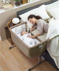Berços Acoplados à cama dos pais - http://coisasbebes.com/bercos-acoplados-cama-dos-pais/