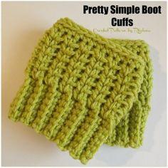 Pretty Simple Boot Cuffs ~ FREE Crochet Pattern