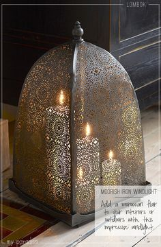 – This eases my fear paranoia of candles burning my place down. Source by semabaki The post Moorish Iron Windlight Large appeared first on Dome Decoration. Moroccan Design, Moroccan Style, Moroccan Theme, Moroccan Bedroom, Moroccan Interiors, Moroccan Decor Living Room, Morrocan Decor, Moroccan Mirror, Candle Lanterns