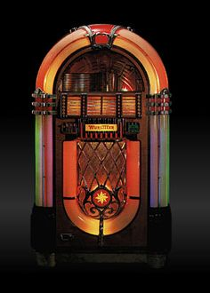 The classic Wurlitzer 1015 jukebox, built in 1946 and '47 in North Towanda, New York.