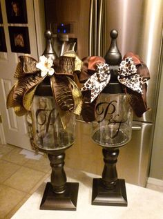 DIY- personalized candy jars! Cute idea!!! The two shown are from Chers Signs by Design