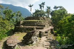 Looking Up at Upper Terraces of Teyuna, Lost City