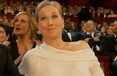Meryl Streep at the  2013 Academy Awards (Julia Roberts, her photobomber)