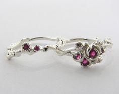 Rose Garden Wedding Set (diff stones available) Wexford Jewelers